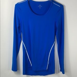 Athleta Power Stretch Long Sleeve Workout Top